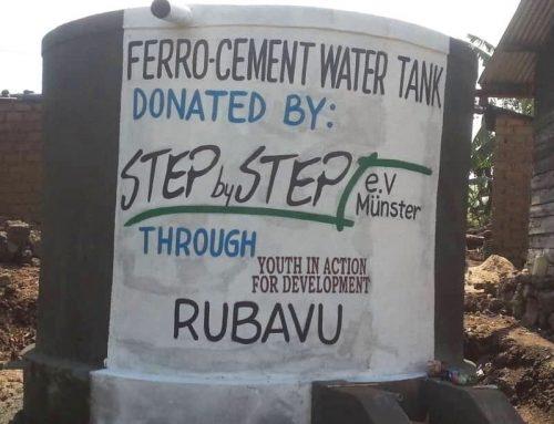 Trinkwasserzisterne für die Batwa in Ruanda